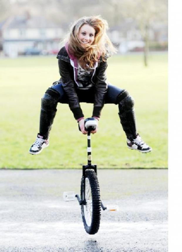 Father and daughter saddle up as Horwich prepares to host first unicycle road race