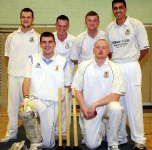 The Bolton News: OUT Little Lever lost to Farnworth in the second round of the Anthony Axford Bolton Indoor Cricket Tournamant. Back row, from left, Andy Worden, Mark Martin, Josh Gent and Victor Ahmed; front, Bob Carter and Harvey Wilson