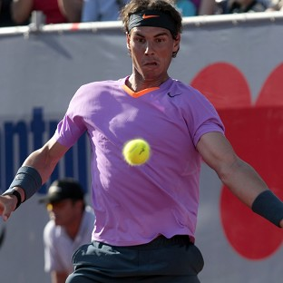 Rafael Nadal, pictured, showed little sign of trouble in despatching Federico Delbonis (AP)