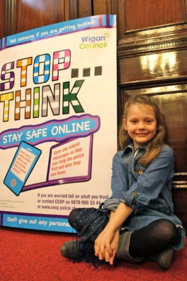 Schoolgirl wins internet safety poster competition