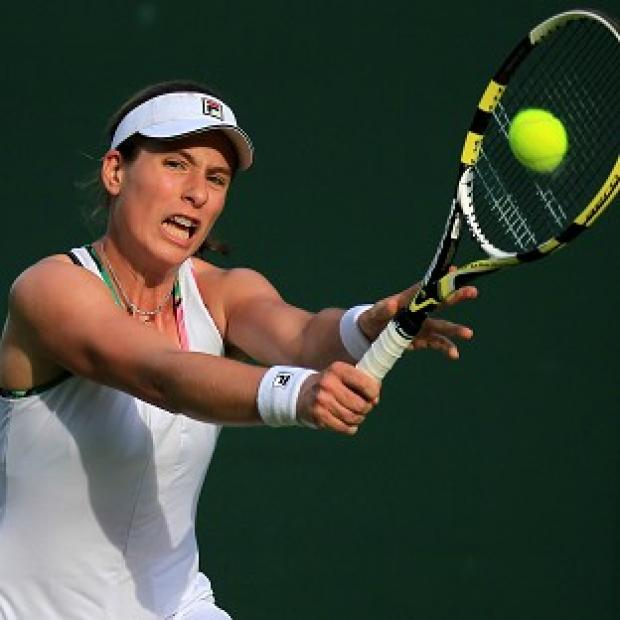 Johanna Konta helped GB secure a 3-0 win over Bosnia