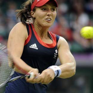 Laura Robson, pictured, defeated Dia Evtimova in the opening rubber of the Fed Cup World Group I play-off