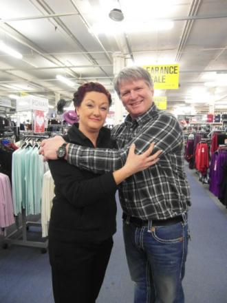 Dawn Needham and Simon Yates in training for the Hugathon at Ena Mill