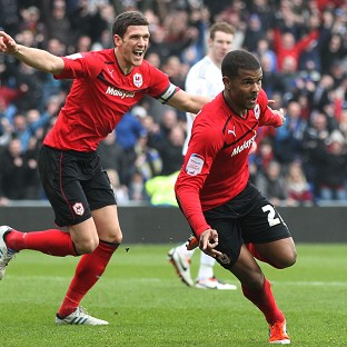 Fraizer Campbell, right, scored twice as Cardiff beat Bristol City