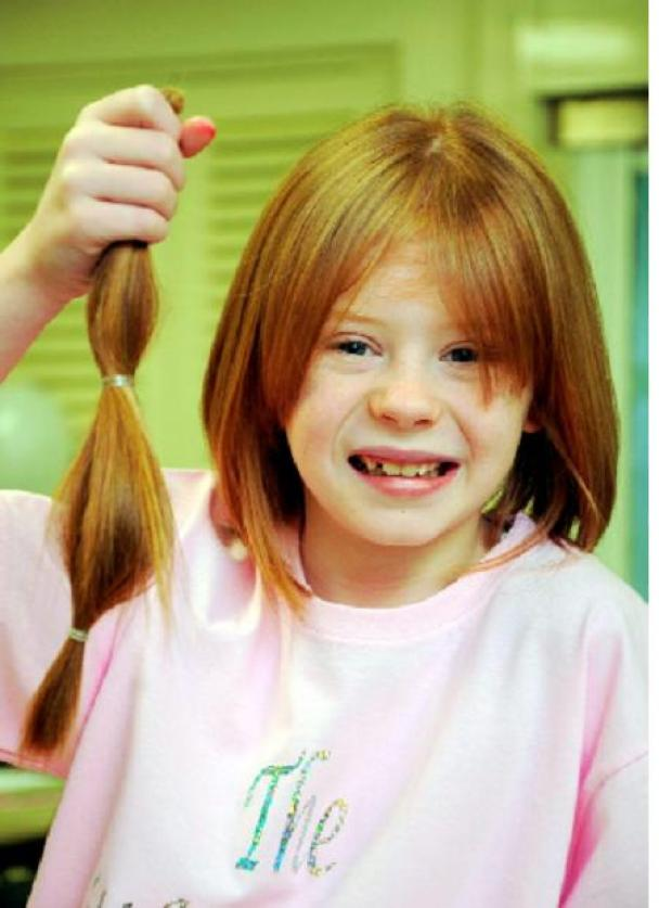 Keira sacrifices her locks for children's charity