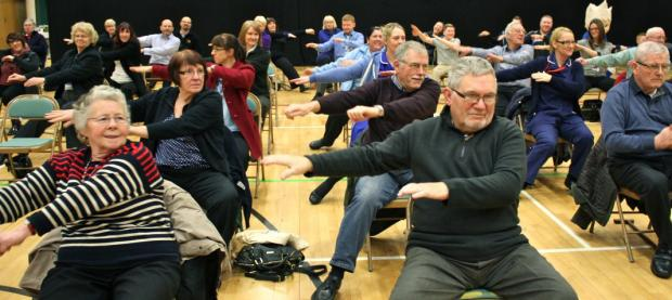 All together - over 100 people enjoyed an exercise session.