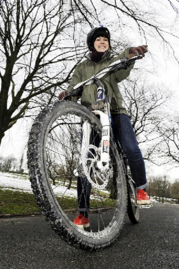 Cyclist Charlotte gets on her bike to help  get the confidence to tackle our busy roads