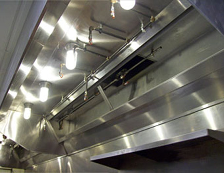 A clean kitchen fan extractor canopy or duct creates a safer working environment & Professional commercial kitchen canopy duct fan and extractor ...