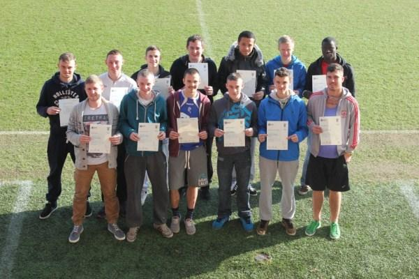 Football students on the way to their BTEC goal.