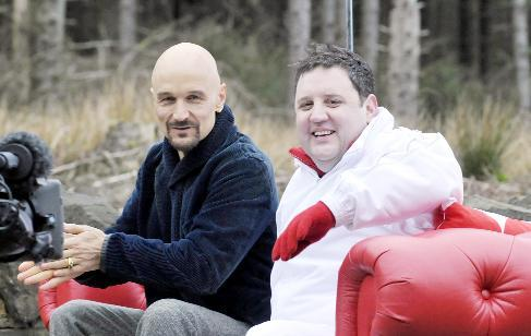 Peter Kay's cash booster seat for Red Nose Day
