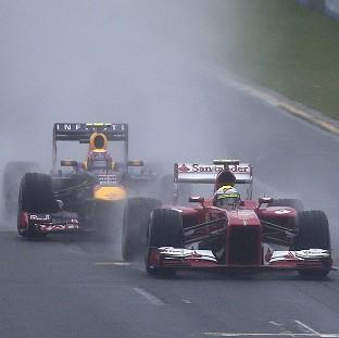 The final two stages of qualifying for the Australian GP have been postponed until Sunday (AP)