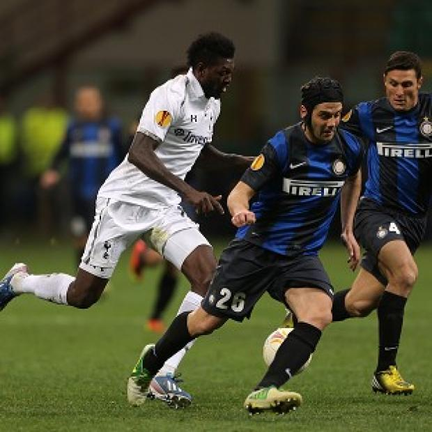 Emmanuel Adebayor, left, was subjected to racist abuse by Inter Milan fans