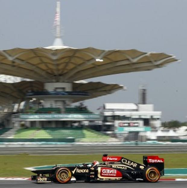 Kimi Raikkonen set the pace in practice ahead of the Malaysian Grand Prix (AP)