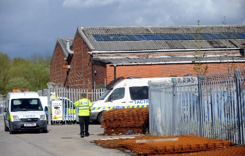 The industrial unit in Farnworth that police believe was the centre of a worldwide illegal drug supply operation