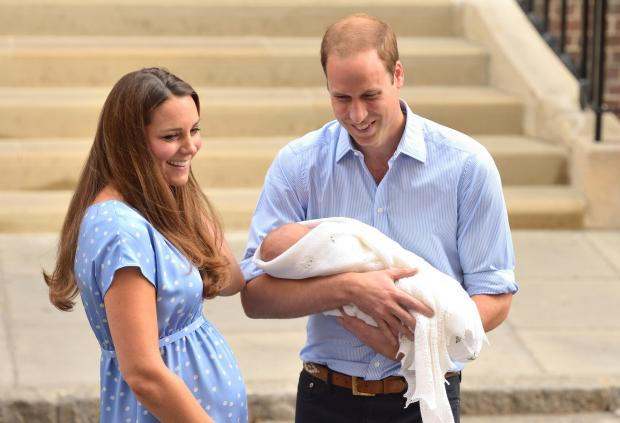 Royal baby: First picture of William and Kate with new son