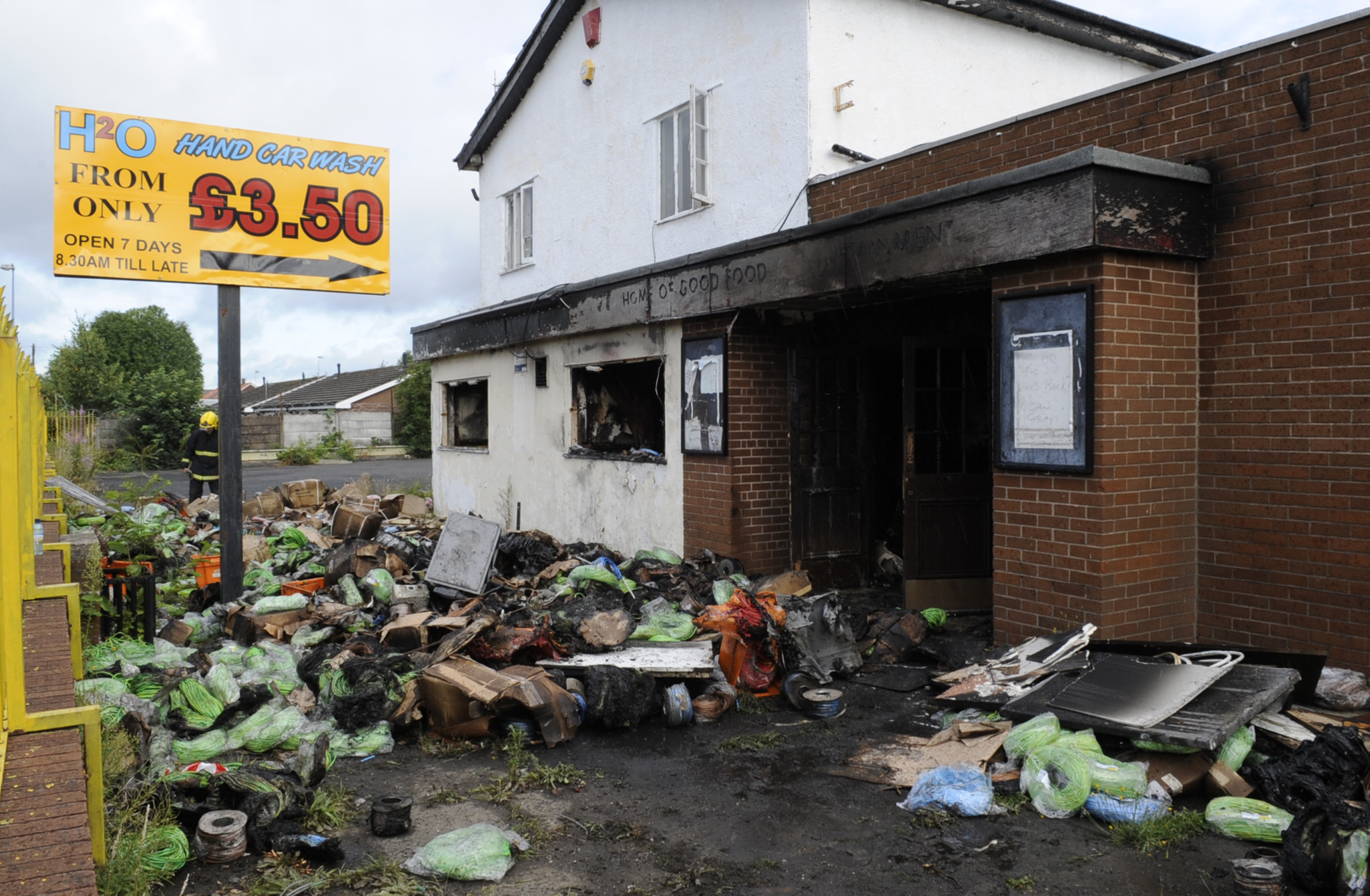 FIRE: The aftermath of the blaze in Little Hulton