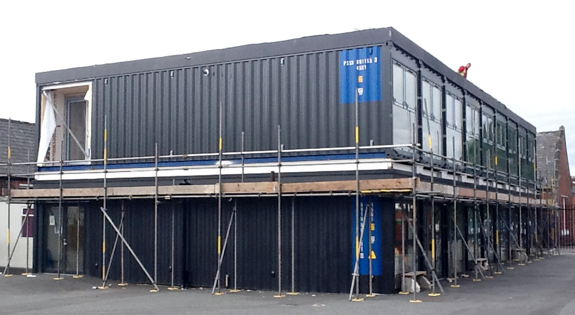 Primary school gets new classrooms made from shipping containers from the bolton news - Vissershok primary school shipping container classroom ...