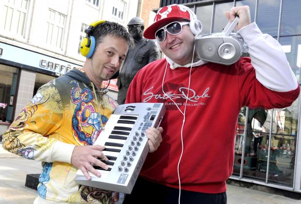CHOON: MC Danny Smash, right, with producer Tony Sabanskis.