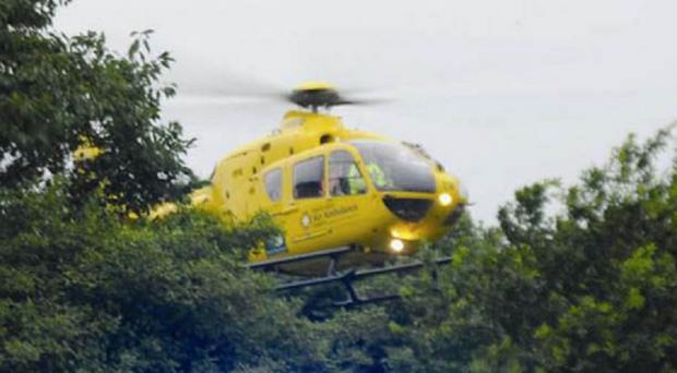 The North West air ambulance in action earlier this year