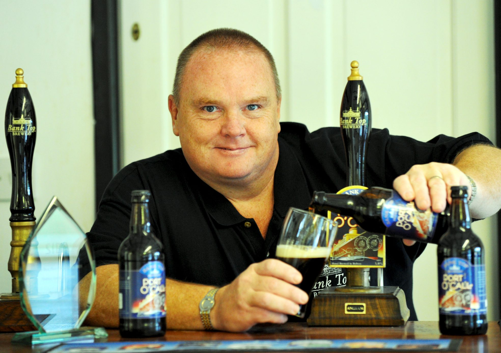 Champion brewer, David Sweeney at his Bank Top Brewery