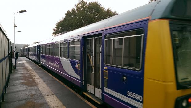 A train arrives at Lostock Station — but services will soon be  hit by electrification work