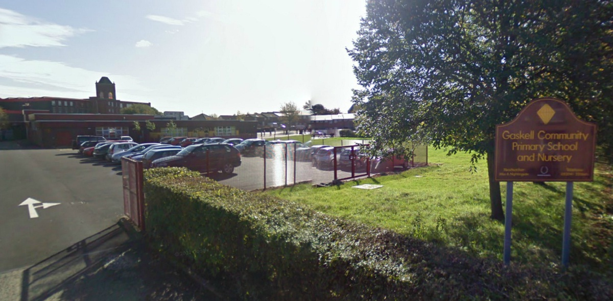 Gaskell Community Primary School in Thomas Holden Street. Picture from Google Maps.