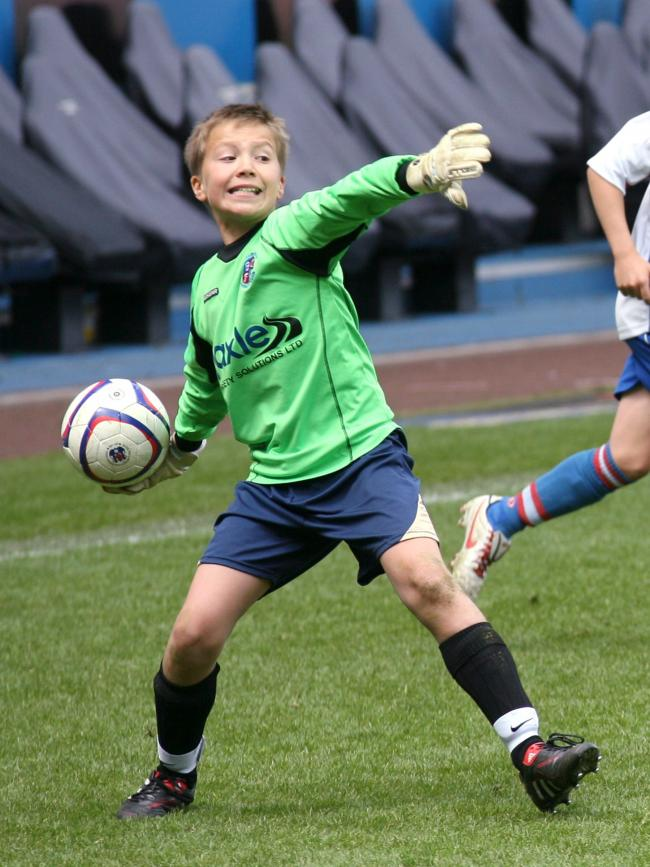 William Jaaskelainen in action for Bromley Cross Sharks as a 12-year-old