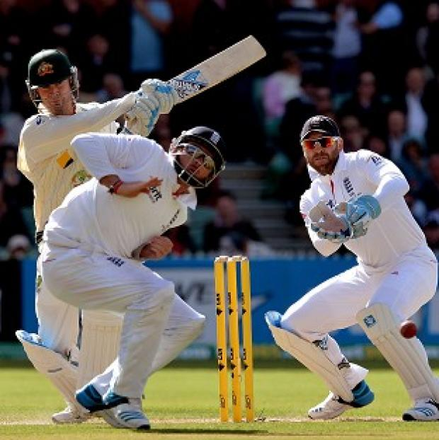 The Bolton News: England took five wickets on the opening day of the second Ashes Test