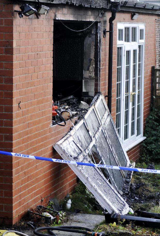 The Bolton News: The scene of the fatal fire in Albert Road West, Heaton
