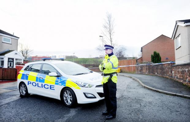 Police in Kempton Rise, Blackburn, where it is thought gang violence escalated into a riot, culminating in a shotgun blast