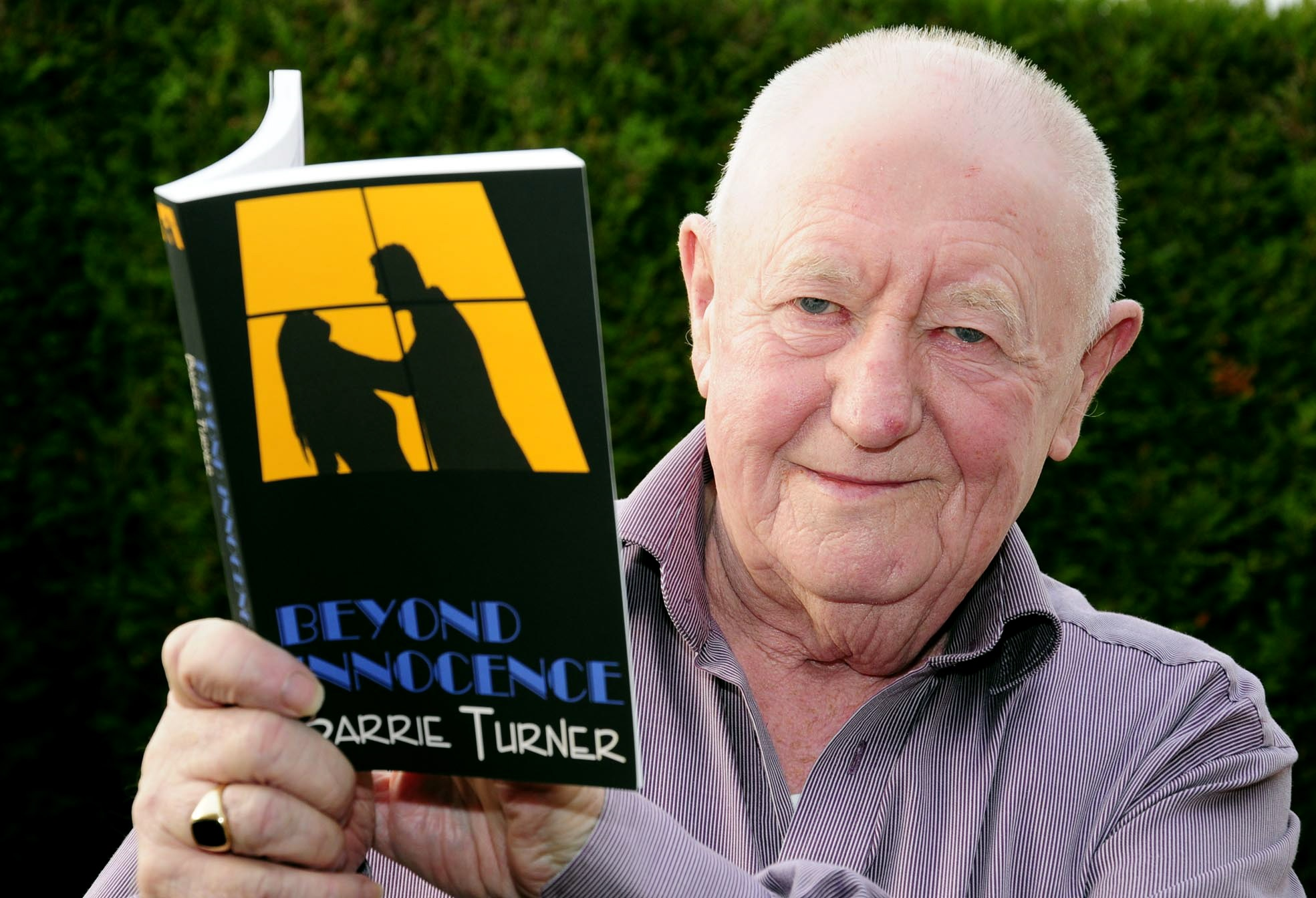 Barrie Turner with his first novel, Beyond Innocence - 2793308