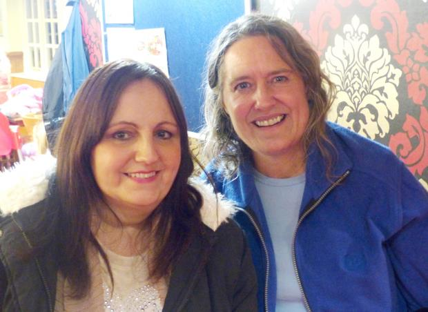 Friends for life Julie Rogers and Helen Cavanagh