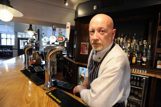 Landlord Gary Patterson  in the refurbished pub