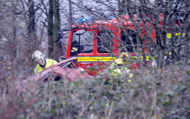 The Bolton News: The scene of the crash on the A666 St Peter's Way near Kearsley