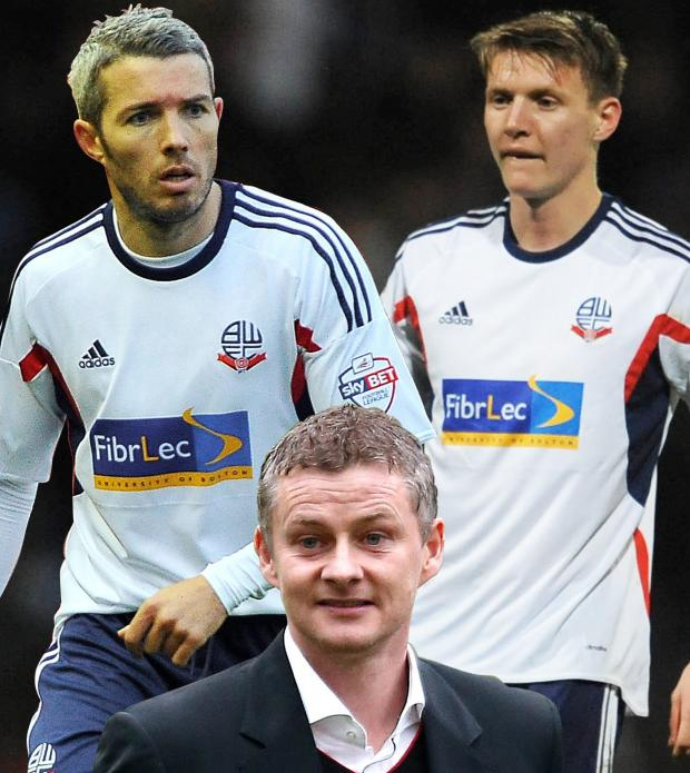 The Bolton News: Wanderers hopes of getting Kevin McNaughton, left, and Joe Mason, right, back on loan have been frustrated by new Cardiff City manager Ole Gunnar Solskjaer, inset