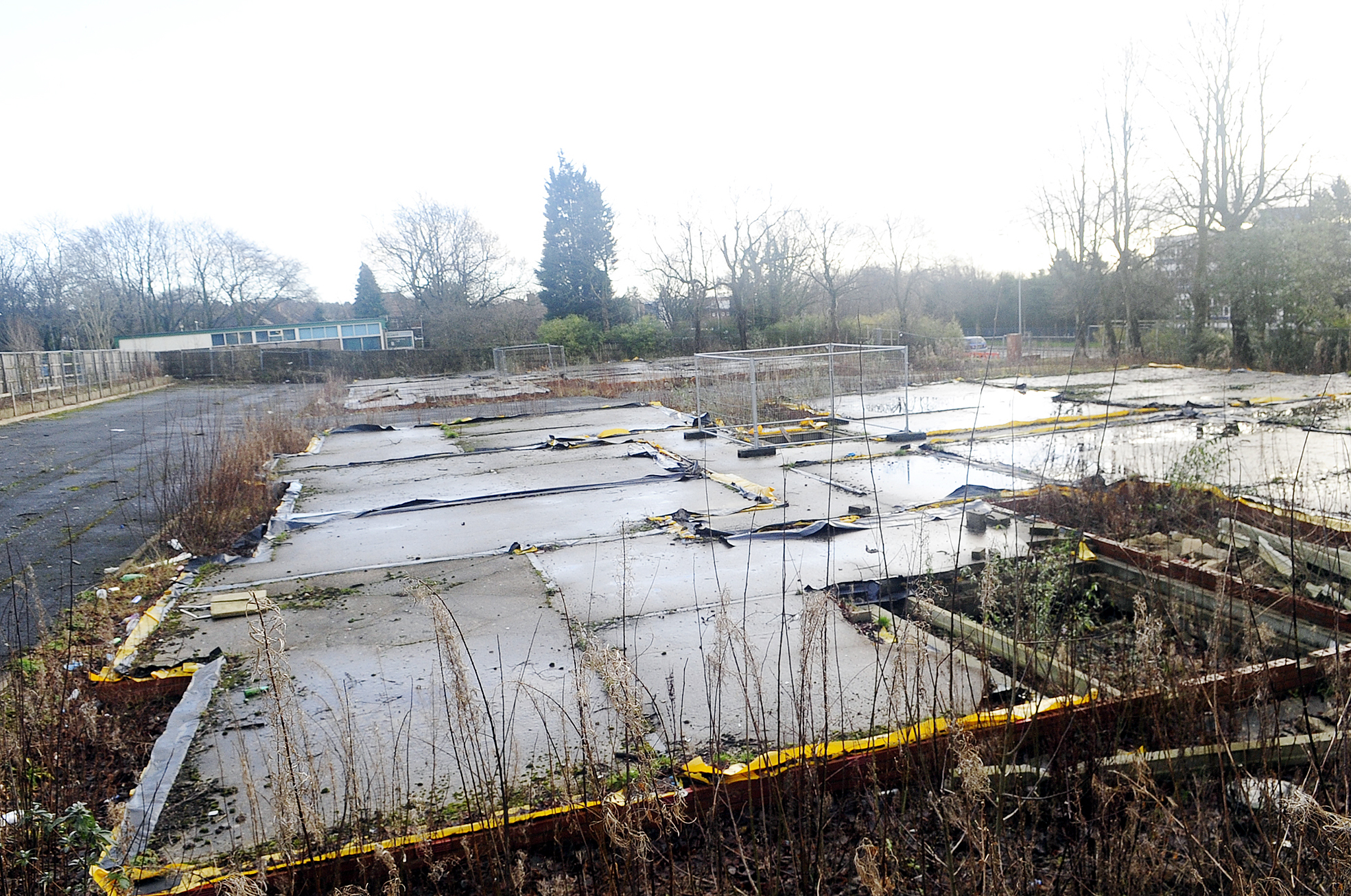 The derelict land in Chorley New Road