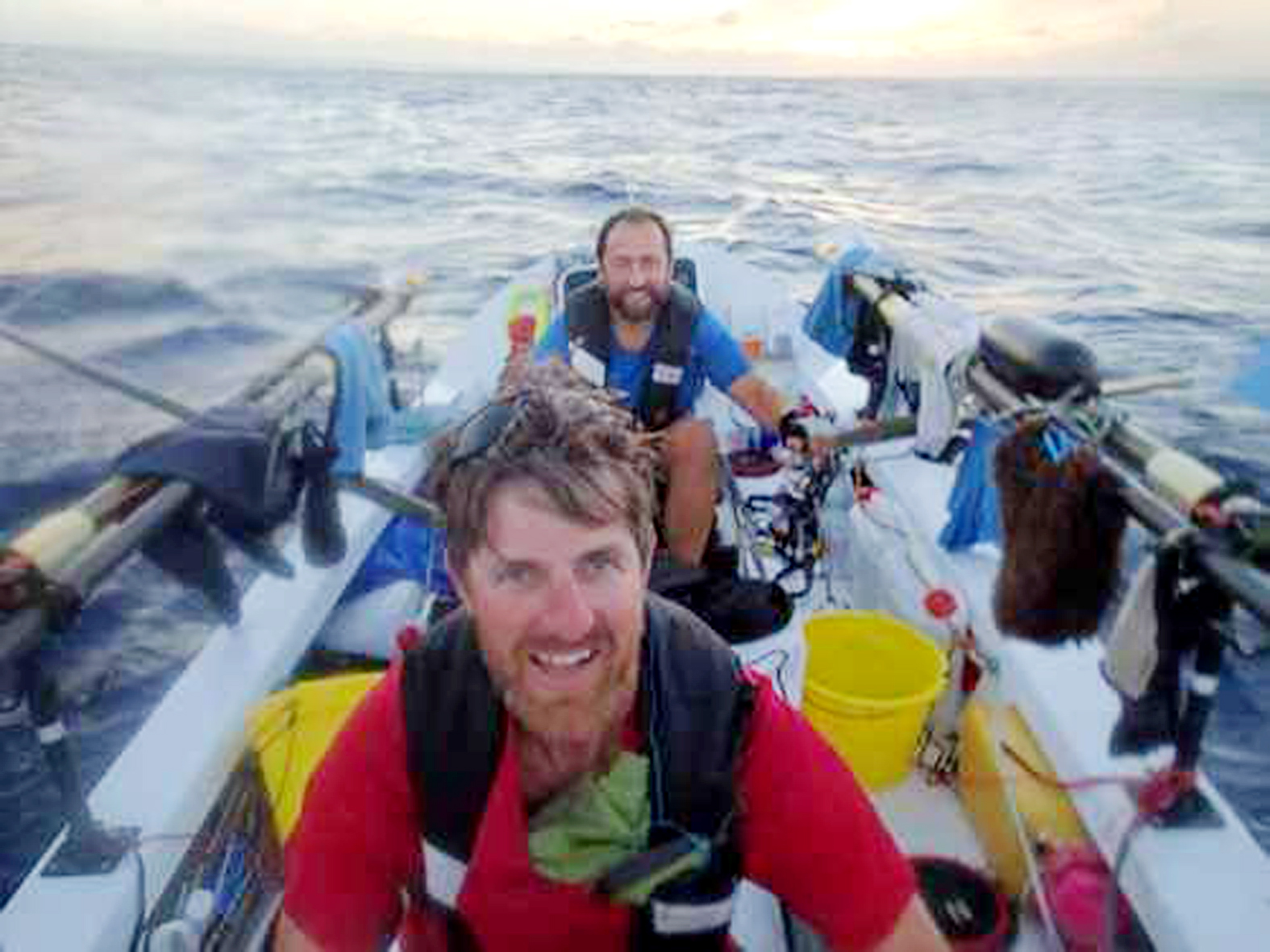 Atlantic rowers sing Auld Lang Syne and enjoy tot of whisky