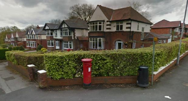 The post box in Smithills Dean Road. Picture from Google Maps.