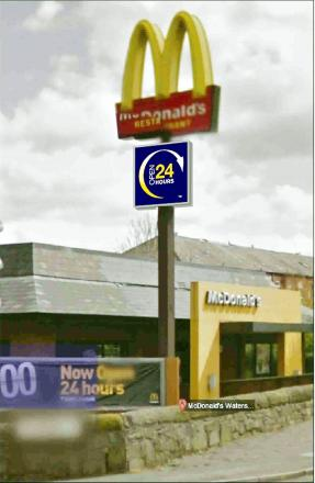 How the new sign would look at McDonald's in Astley Bridge