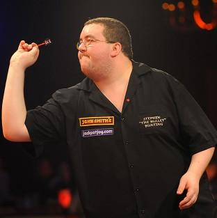 Stephen Bunting, pictured, looked strong against David Prins