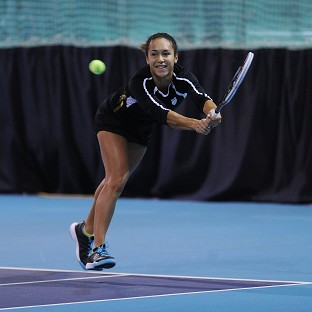 Heather Watson is one win away from entering the first round of the Australian Open