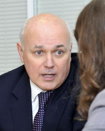 Iain Duncan Smith in Bolton today