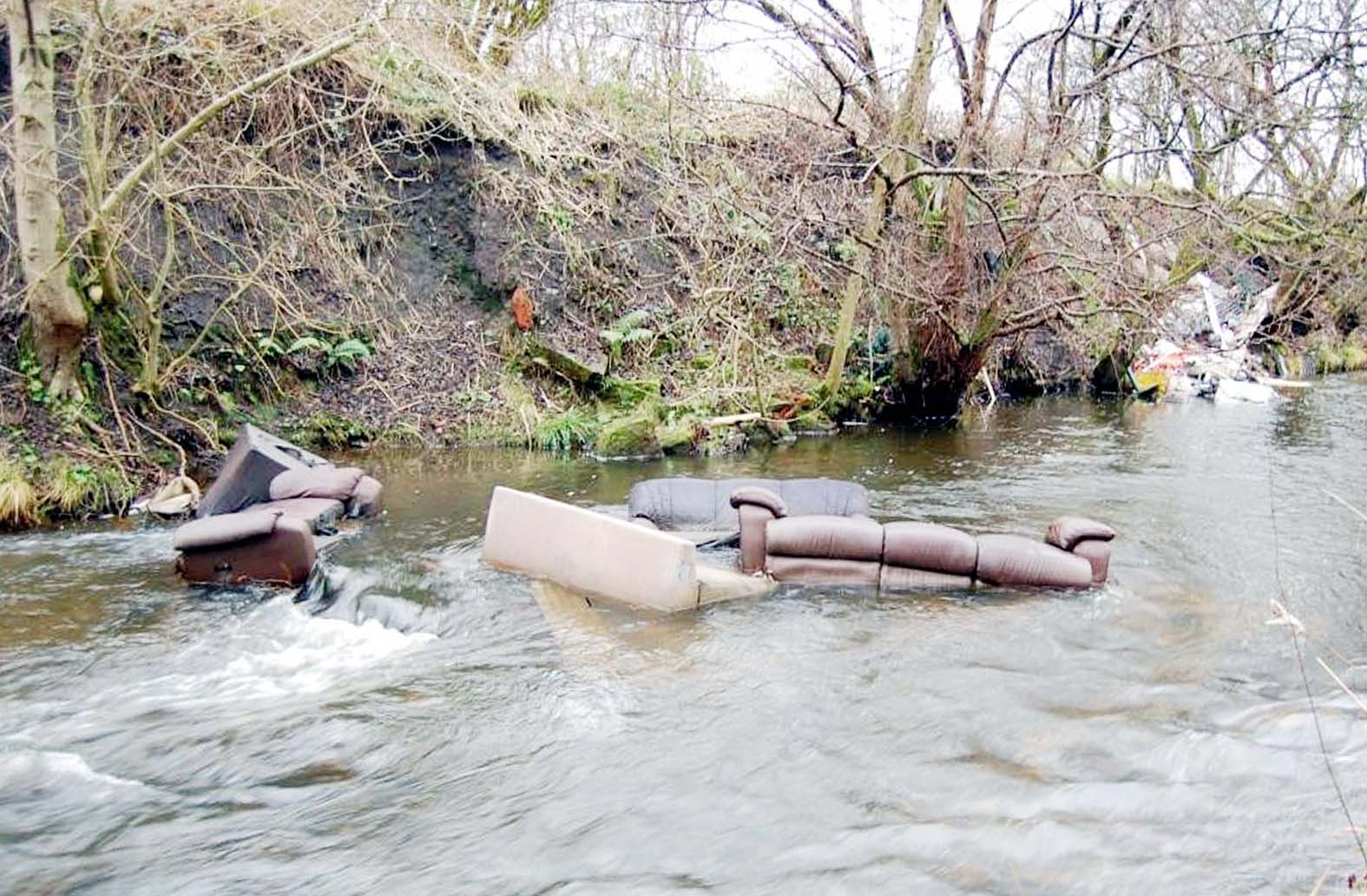 Fly-tippers ruin popular Bolton beauty spot by dumping rubbish in Bradshaw Brook