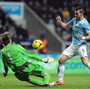 Alvaro Negredo nets City's second goal