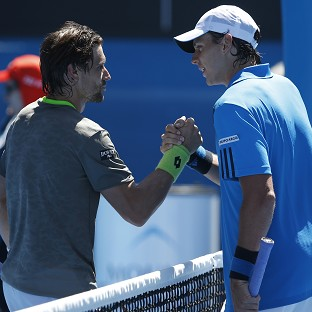 David Ferrer, left, secured a comfortable victory over Alejandro Gonzalez, right, in Melbourne (AP)