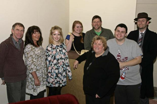 The cast of Tyldesley Little Theatre's murder mystery Cat's Cradle