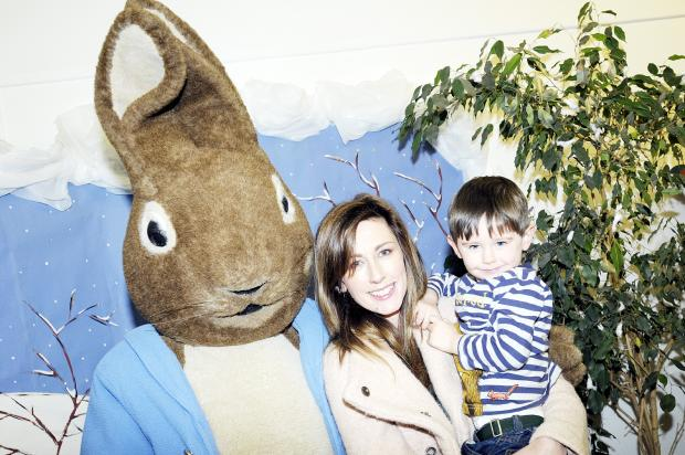 Peter Rabbit drops in at Leigh Library