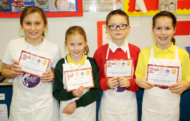 The winning youngsters in the Primary School MasterChef competition