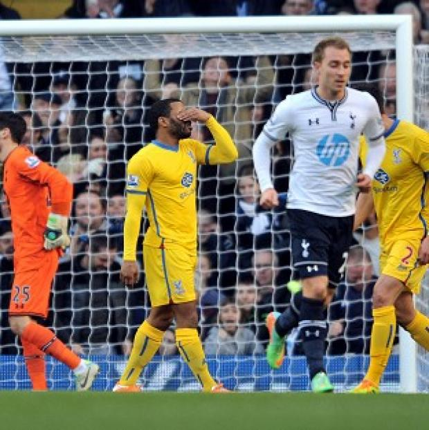 The Bolton News: Jason Puncheon reacts after missing the penalty