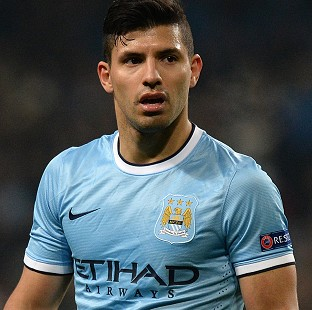 Sergio Aguero could feature against Blackburn